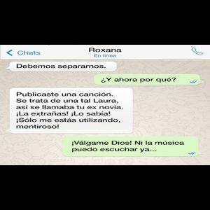 Chats de Whatsapp de novios peleando