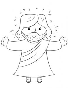 Dibujo de Jesús para niños