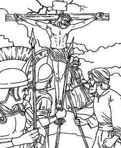 Dibujo de Jesús en la cruz
