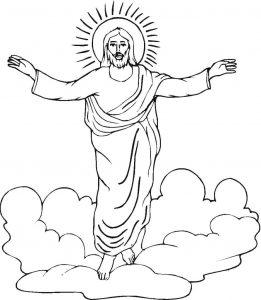 Dibujo de Jesús resucitado