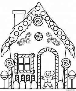 Casas de Navidad para colorear