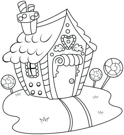 Casas De Navidad Para Colorear Decoradas En Imágenes