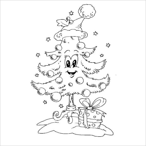 Dibujos De árboles De Navidad Para Colorear Y Dibujar Fáciles