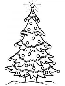 Dibujos De Arboles De Navidad Para Colorear Y Dibujar Faciles