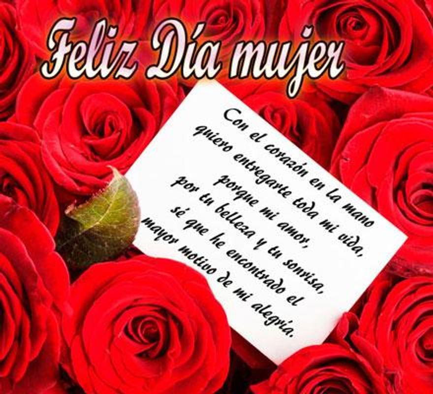 Feliz Día De La Mujer Mi Amor Con Frases Hermosas